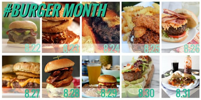 #BURGER MONTH - the final countdown - see these and more burger recipes at girlcarnivore