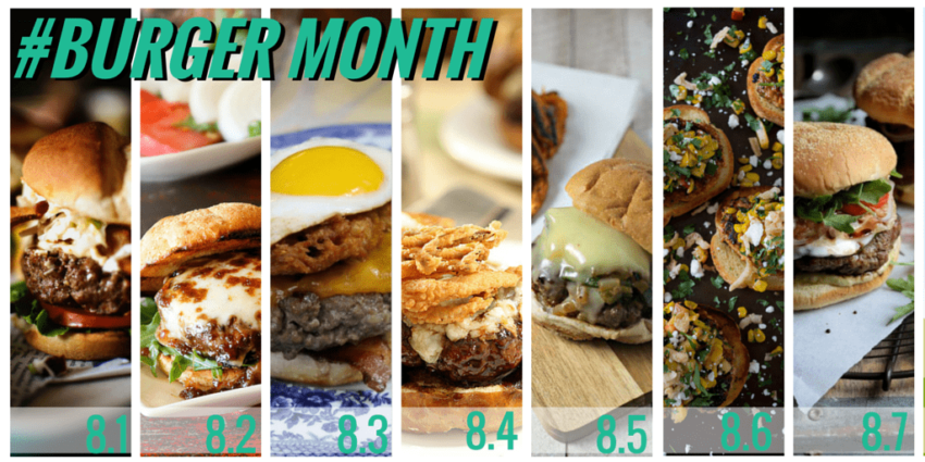 #BURGERMONTH Week one - see all the epic burger month creations at GirlCarnivore.com