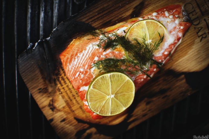 Cedar Smoked Salmon, right on the board. Quick, easy, and so damn delicious!