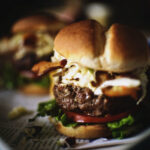 Cheddar Stuffed Apple Slaw Burger | Kita Roberts GirlCarnivore.com