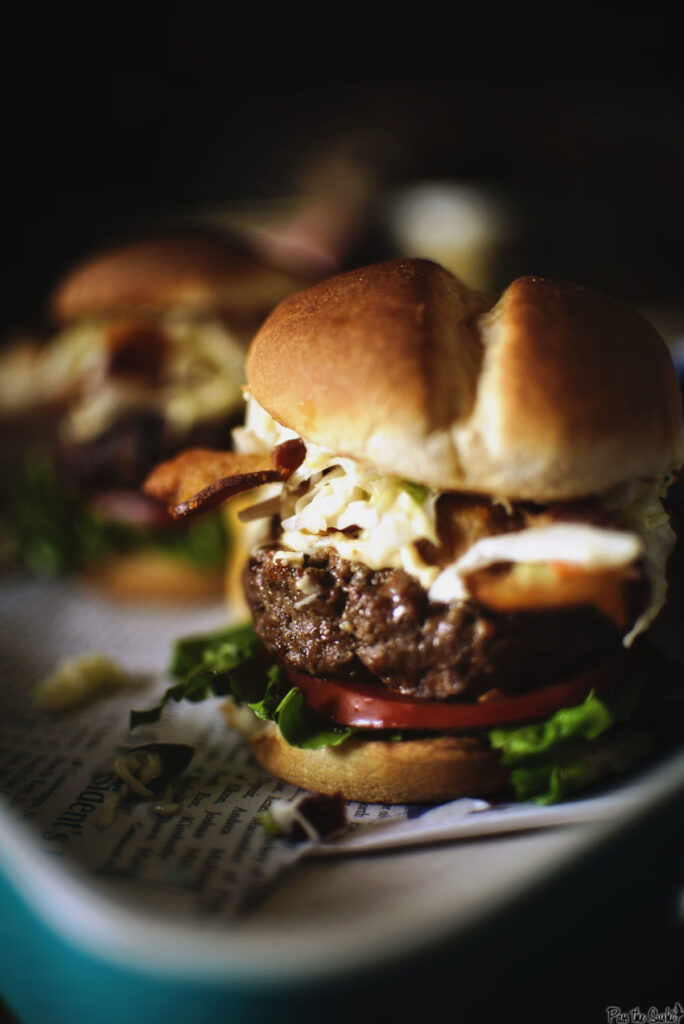 Cheddar Stuffed Apple Slaw Burger | Kita Roberts GirlCarnivore.com