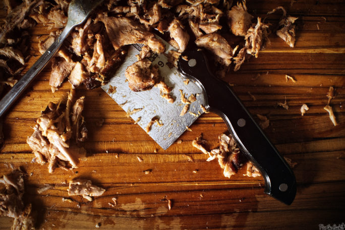 See that shredded pork? That's what 10 hours of low and slow will do to meat. Yeah, it's good.