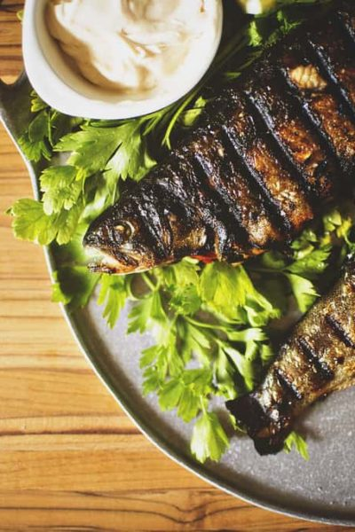 Stuffed and Grilled Rainbow Trout