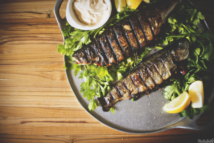 Stuffed and Grilled Rainbow Trout | Kita Roberts GirlCarnivore.com