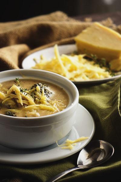 Cheesy Chicken and Broccoli Soup | Kita Roberts GirlCarnivore.com