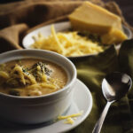 Cheesy Chicken and Broccoli Soup | Kita Roberts GirlCarnivore.com