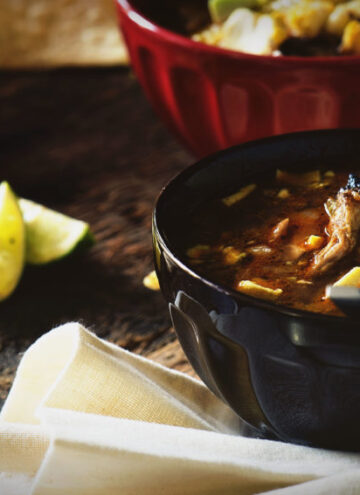Grilled Chicken Tequila Tortilla Soup | Kita Roberts GirlCarnivore.com