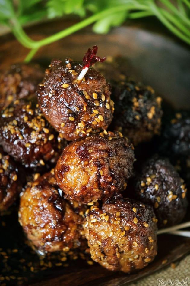 Slow Cooker Sesame Meatballs
