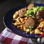 Simple Slow Cooker Smoked Sausage Chili | Kita Roberts GirlCarnivore.com