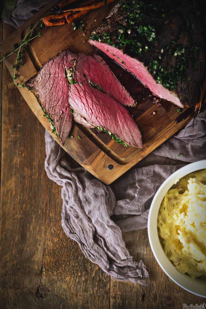 Herb Rubbed Top Roast Roast Recipe GirlCarnivore.com