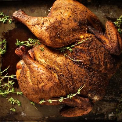Smoked Spatchcocked Chicken | Weber Smokey Mountain Review