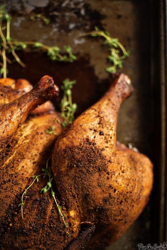 Smoked Spatchcocked Chicken | Kita Roberts GirlCarnivore.com