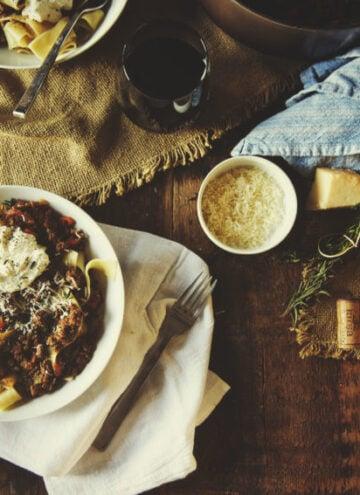 Savory Lamb Ragu with Pappardelle Pasta | Kita Roberts GirlCarnivore.com
