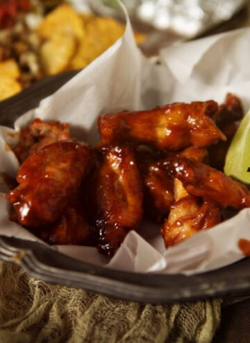 Sriracha & Bourbon Chicken Wings Recipe | Kita Roberts GirlCarnivore.com