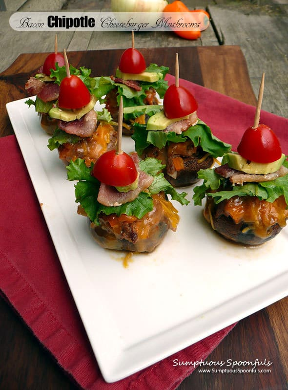 10 Bacon-Chipotle-Cheeseburger-Stuffed-Mushrooms Smptuousspoonfuls