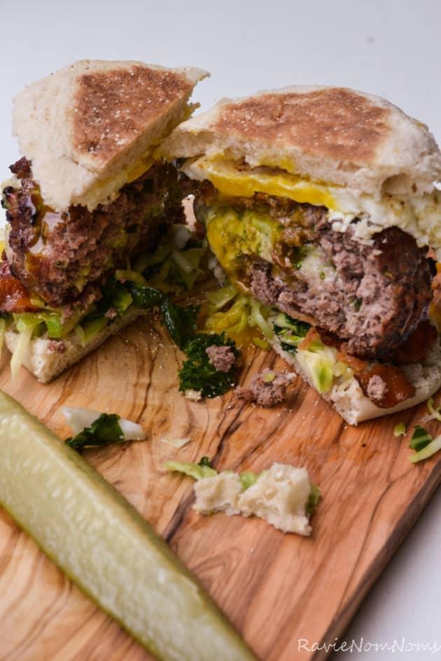 15 Broccoli Stuffed Burger - Ravie NomNoms