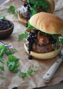 23 Blueberry-BBQ-Brie-Burger Running to the Kitchen