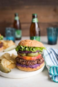23 Grilled Bison Burgers Pineapple and Coconut