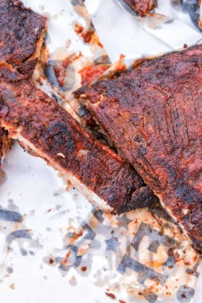 Hickory Smoked Pork Ribs with Paleo BBQ Sauce