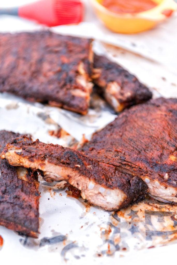Hickory Smoked Pork Ribs with Paleo BBQ Sauce | Kita Roberts GirlCarnivore.com