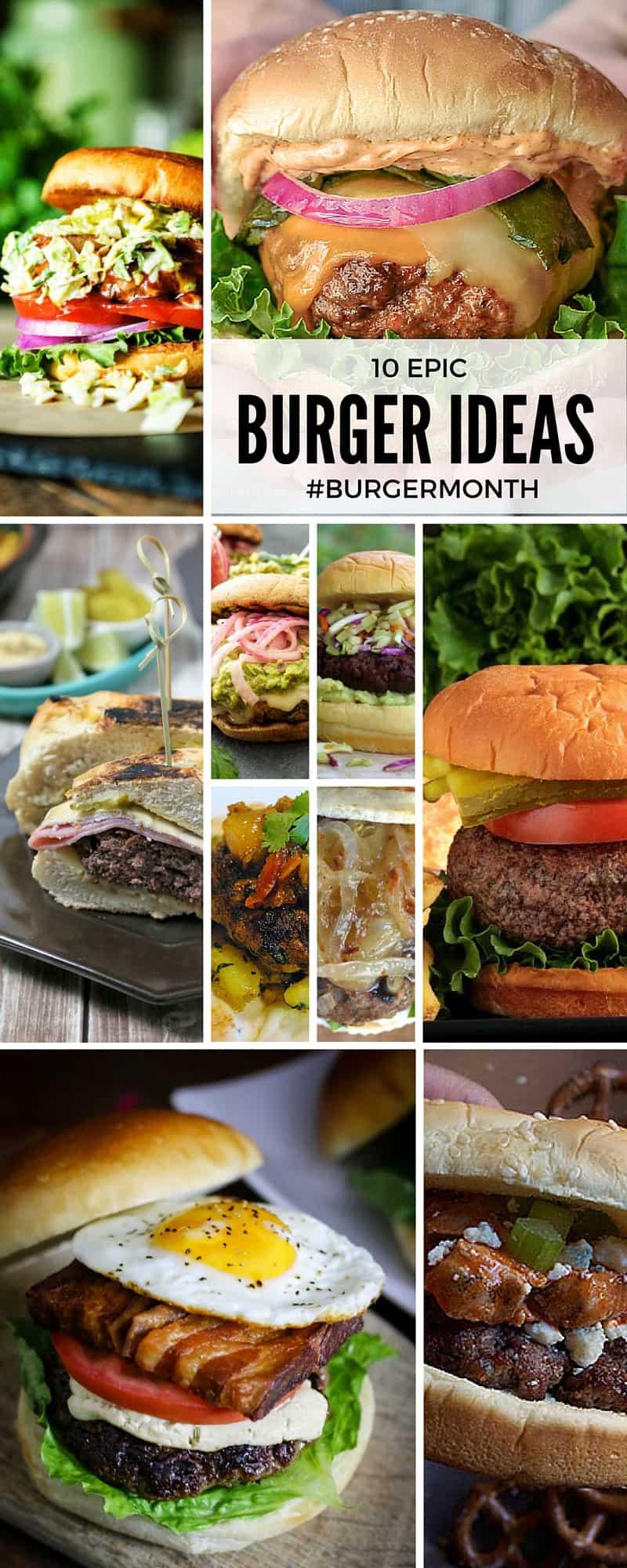 10 epic burger ideas