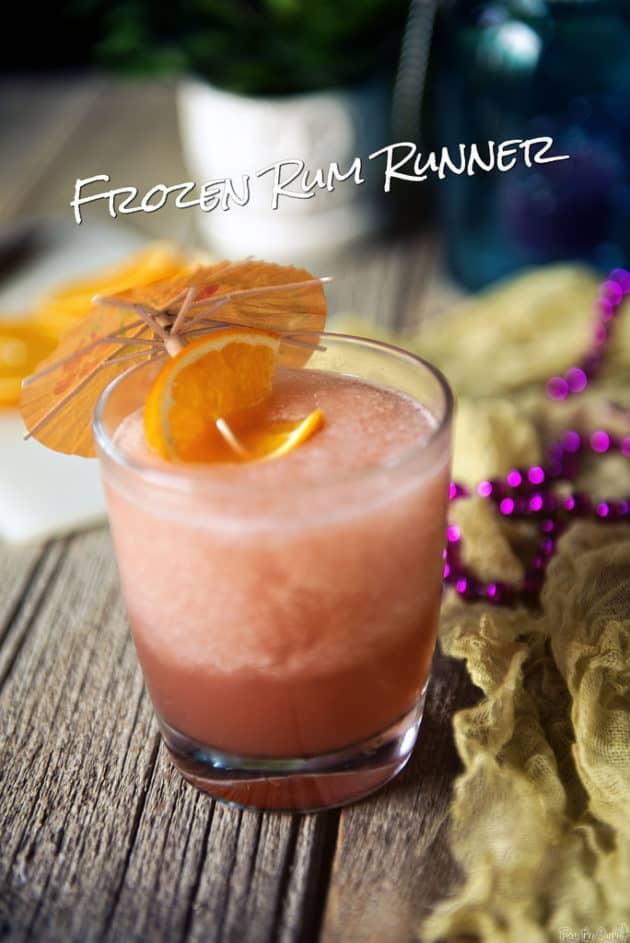Frozen Rum Runner Cocktails
