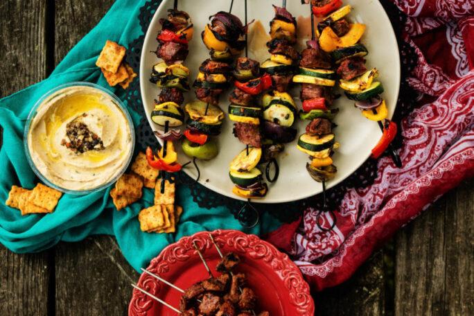 Harissa Marinated Grilled Lamb Kabobs | Kita Roberts GirlCarnivore.com