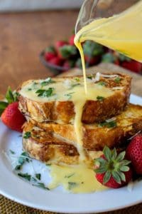 Savory Parmesan French Toast with Hollandaise