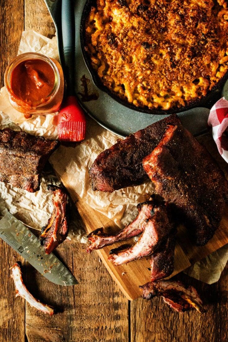 Memphis Style Smoked Pork Ribs Recipe