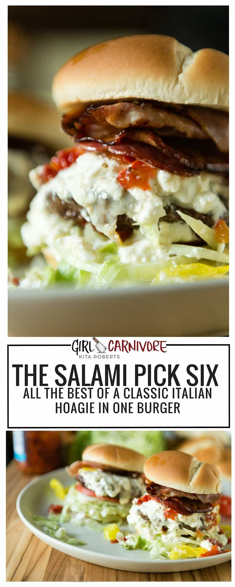 The Salami Six Pick Burger