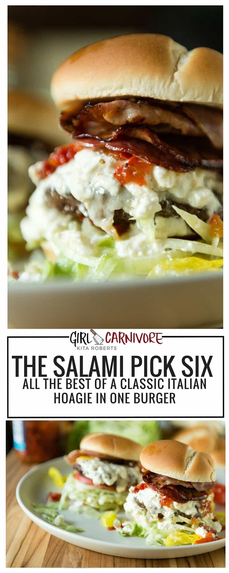 The Salami Six Pick Burger