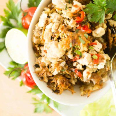Thai Larb With Crispy Potatoes