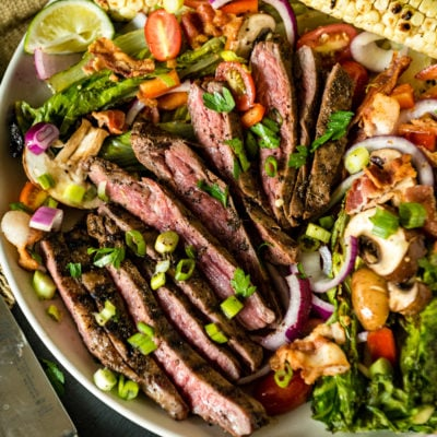 Grilled Coffee Crusted Flank Steak Salad | Kita Roberts GirlCarnivore.com