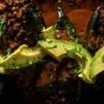 Enchilada Stuffed Smoked Poblanos | Kita Roberts GirlCarnivore.com