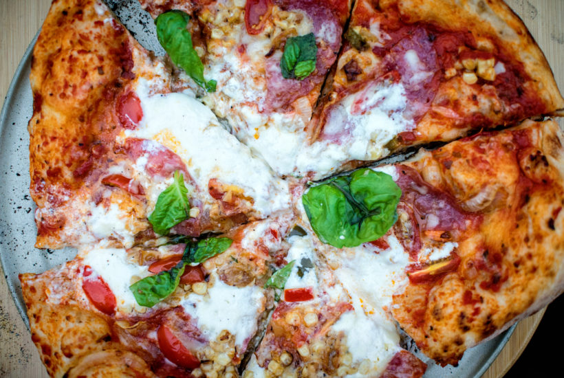 Grilled Summer Pizza with Salami, Sweet Corn and Burrata   Kita Roberts GirlCarnivore.com