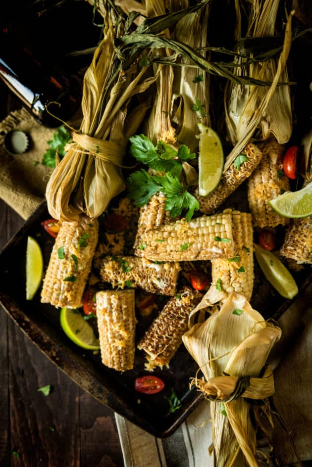 Smoked Corn on the Cob | The perfect way to add flavor and a really cool presentation to your next Barbecue! | GirlCarnivore.com