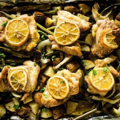 Sheet Pan Baked Chicken and Potatoes