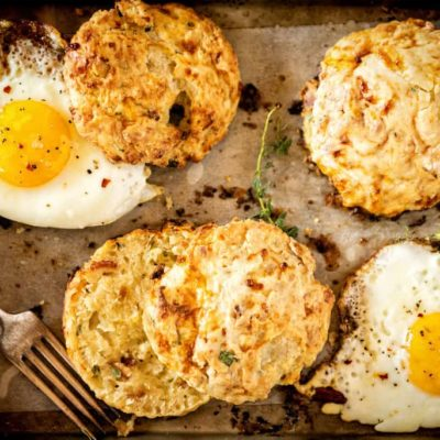 Herb and Bacon Cottage Cheese Biscuits