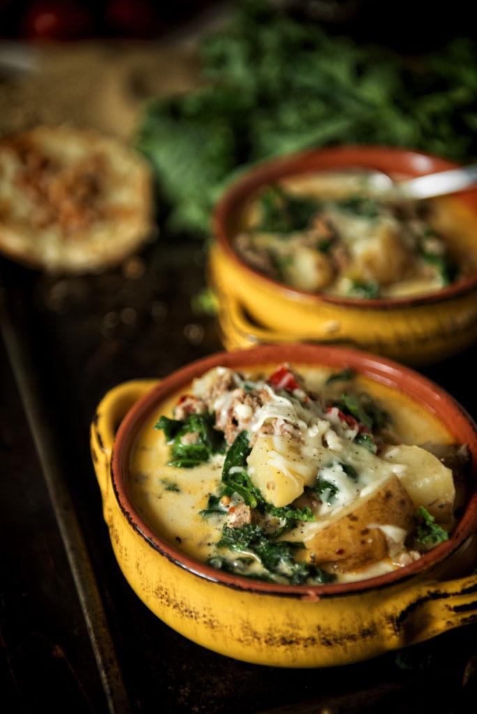Copycat Slow Cooker Zuppa Toscana | Kita Roberts GirlCarnivore.com