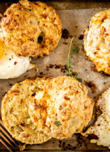Herb and Bacon Cottage Cheese Biscuits | Kita Roberts GirlCarnivore.com