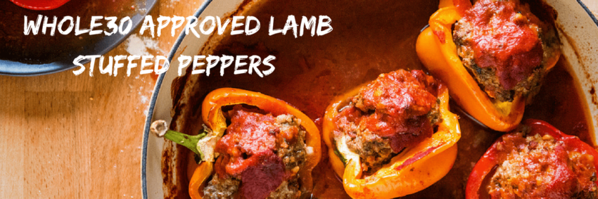 Whole30 Approved Lamb Stuffed Peppers