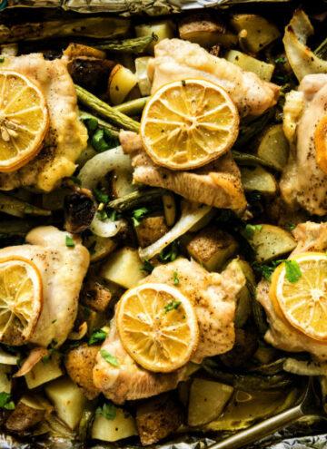 Sheet Pan Baked Chicken and Potatoes | Kita Roberts GirlCarnivore.com