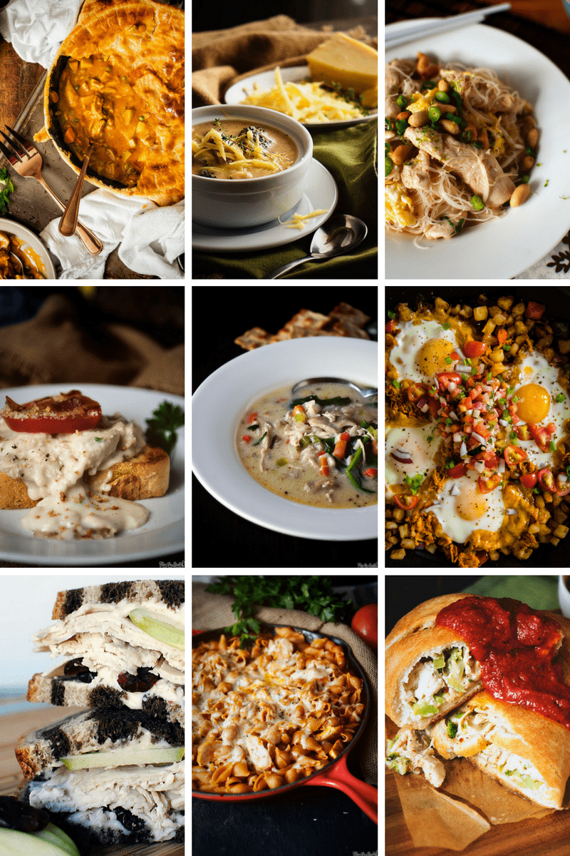 Leftover Thanksgiving Turkey? Here's a round up of some seriously awesome recipes to use it all up!