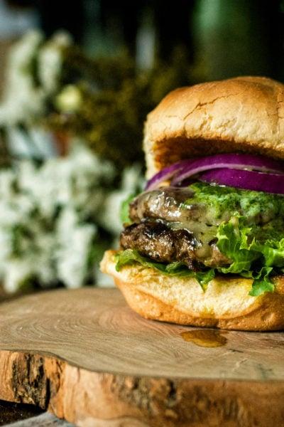 Argentinian Chimichurri Butter Burger | Kita Roberts GirlCarnivore.com