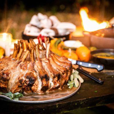 Smoked Pork Crown Roast with a Sage Pan Gravy