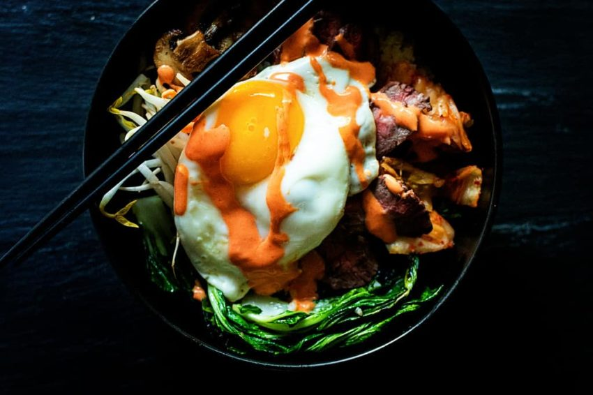 Whole30 Grilled Steak Bibimbap Bowls