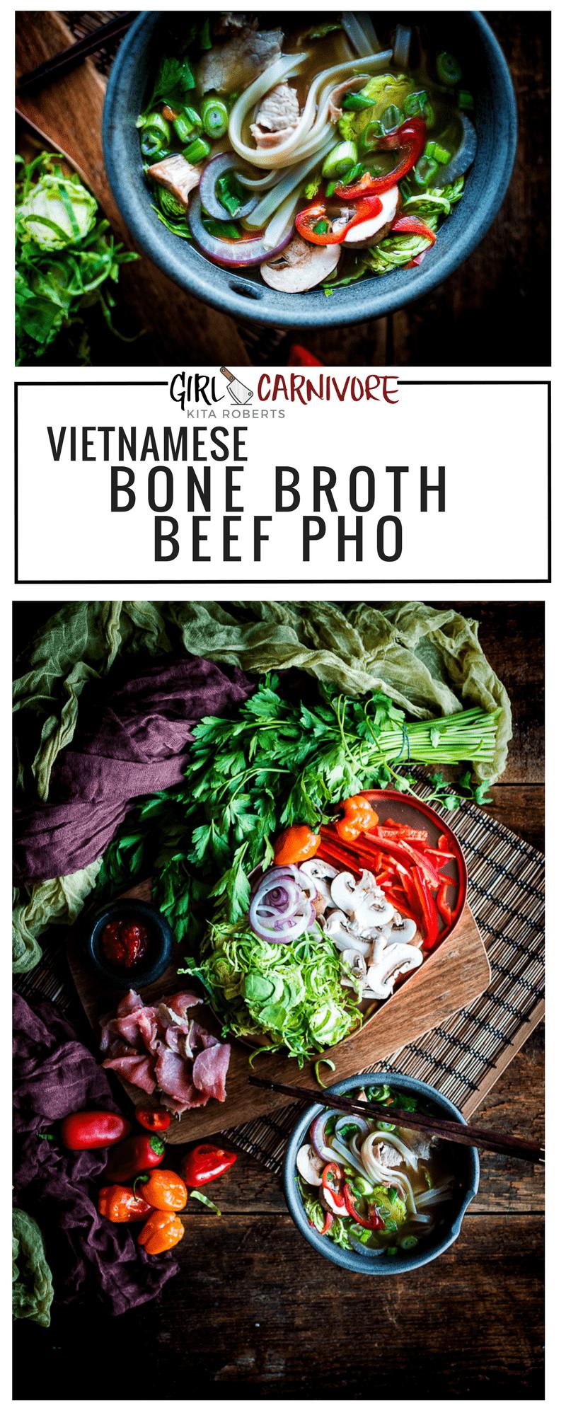 Vietnamese Bone Broth Beef Pho