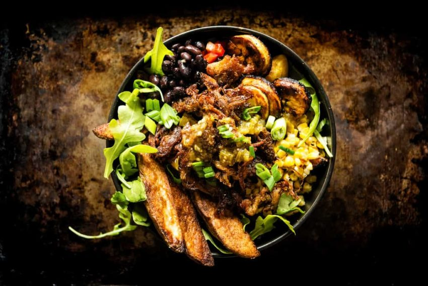Leftover Carnitas Latin Potato Power Bowl