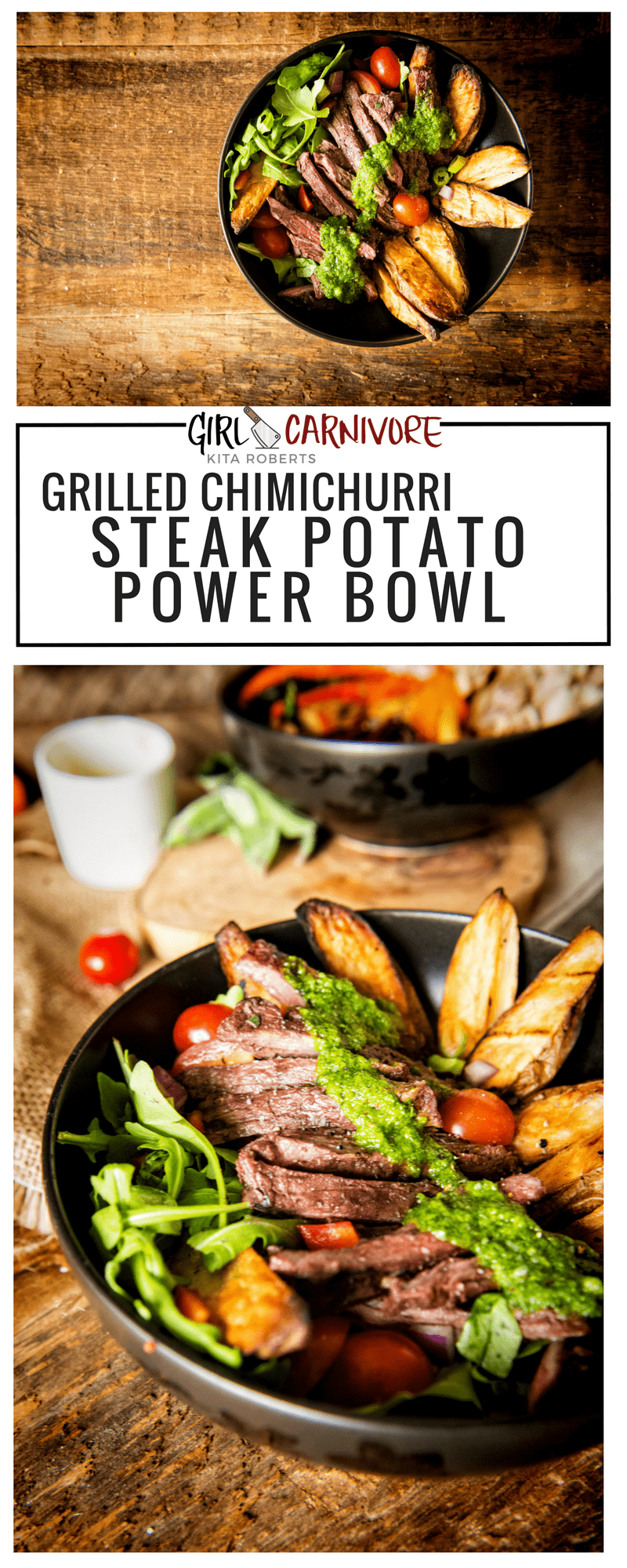 Grillled Chimichurri Steak Potato Power Bowl