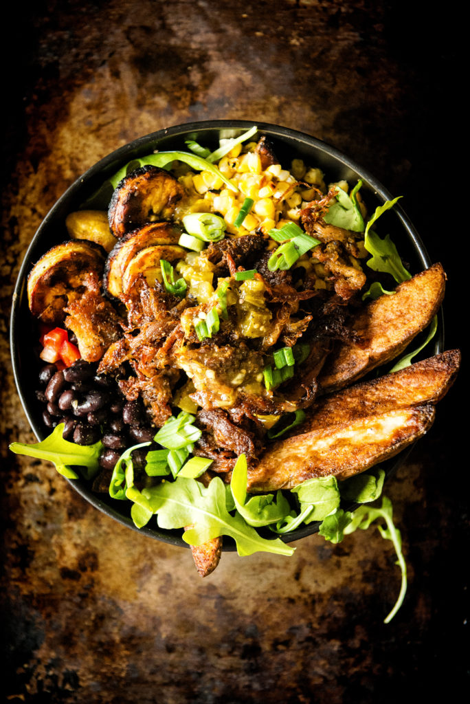 Leftover Carnitas Latin Potato Power Bowl | Kita Roberts GirlCarnivore.com